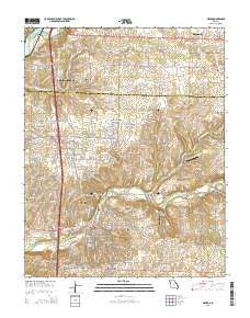 Ozark Missouri Current topographic map, 1:24000 scale, 7.5 X 7.5 Minute, Year 2015
