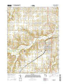 Palmyra Missouri Current topographic map, 1:24000 scale, 7.5 X 7.5 Minute, Year 2015