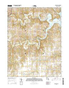 Paris East Missouri Current topographic map, 1:24000 scale, 7.5 X 7.5 Minute, Year 2015