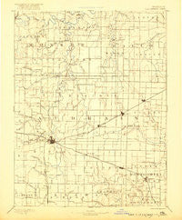 Perry Missouri Historical topographic map, 1:125000 scale, 30 X 30 Minute, Year 1890