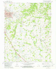 Perryville East Missouri Historical topographic map, 1:24000 scale, 7.5 X 7.5 Minute, Year 1980