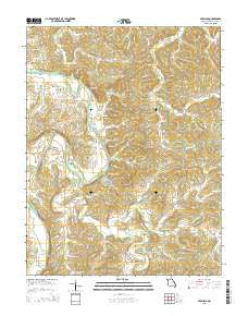 Pershing Missouri Current topographic map, 1:24000 scale, 7.5 X 7.5 Minute, Year 2015
