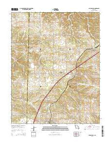 Phillipsburg Missouri Current topographic map, 1:24000 scale, 7.5 X 7.5 Minute, Year 2015