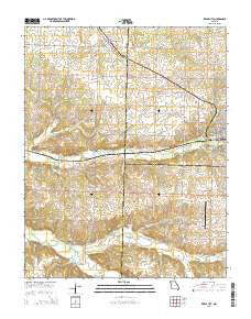 Pierce City Missouri Current topographic map, 1:24000 scale, 7.5 X 7.5 Minute, Year 2015