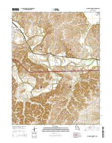 Pilot Grove North Missouri Current topographic map, 1:24000 scale, 7.5 X 7.5 Minute, Year 2015