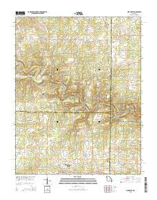 Pine Crest Missouri Current topographic map, 1:24000 scale, 7.5 X 7.5 Minute, Year 2015