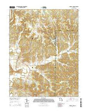 Pinnacle Lake Missouri Current topographic map, 1:24000 scale, 7.5 X 7.5 Minute, Year 2015 from Missouri Maps Store