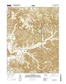 Pinnacle Lake Missouri Current topographic map, 1:24000 scale, 7.5 X 7.5 Minute, Year 2015
