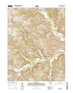 Pittsville Missouri Current topographic map, 1:24000 scale, 7.5 X 7.5 Minute, Year 2014 from Missouri Map Store