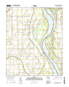 Point Pleasant Missouri Current topographic map, 1:24000 scale, 7.5 X 7.5 Minute, Year 2015
