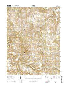 Polk Missouri Current topographic map, 1:24000 scale, 7.5 X 7.5 Minute, Year 2015