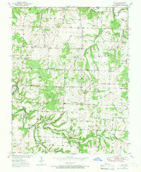 Polk Missouri Historical topographic map, 1:24000 scale, 7.5 X 7.5 Minute, Year 1950