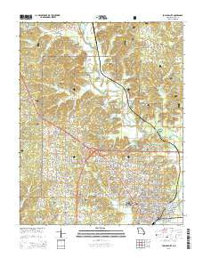 Poplar Bluff Missouri Current topographic map, 1:24000 scale, 7.5 X 7.5 Minute, Year 2015