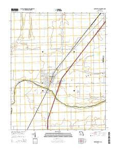 Portageville Missouri Current topographic map, 1:24000 scale, 7.5 X 7.5 Minute, Year 2015