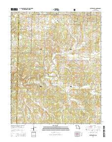 Pottersville Missouri Current topographic map, 1:24000 scale, 7.5 X 7.5 Minute, Year 2015