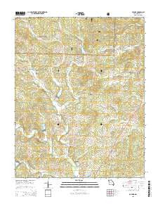 Poynor Missouri Current topographic map, 1:24000 scale, 7.5 X 7.5 Minute, Year 2015