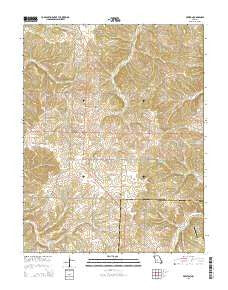 Preston Missouri Current topographic map, 1:24000 scale, 7.5 X 7.5 Minute, Year 2015
