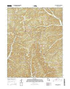 Proctor Creek Missouri Current topographic map, 1:24000 scale, 7.5 X 7.5 Minute, Year 2015