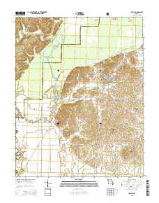 Puxico Missouri Current topographic map, 1:24000 scale, 7.5 X 7.5 Minute, Year 2015