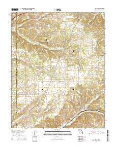 Racine Missouri Current topographic map, 1:24000 scale, 7.5 X 7.5 Minute, Year 2015