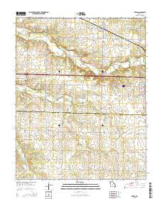 Reeds Missouri Current topographic map, 1:24000 scale, 7.5 X 7.5 Minute, Year 2015