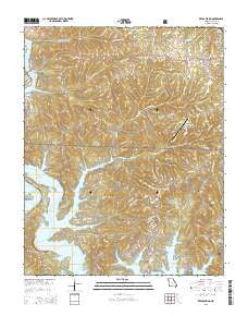 Reeds Spring Missouri Current topographic map, 1:24000 scale, 7.5 X 7.5 Minute, Year 2015