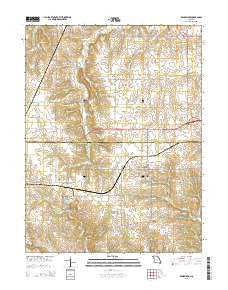 Rensselaer Missouri Current topographic map, 1:24000 scale, 7.5 X 7.5 Minute, Year 2015