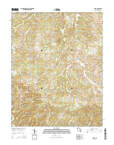 Rhyse Missouri Current topographic map, 1:24000 scale, 7.5 X 7.5 Minute, Year 2015