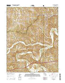 Richland Missouri Current topographic map, 1:24000 scale, 7.5 X 7.5 Minute, Year 2015