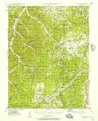 Richwoods Missouri Historical topographic map, 1:62500 scale, 15 X 15 Minute, Year 1946