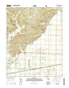 Rombauer Missouri Current topographic map, 1:24000 scale, 7.5 X 7.5 Minute, Year 2015