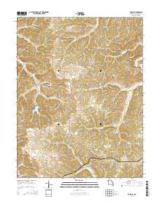 Rosebud Missouri Current topographic map, 1:24000 scale, 7.5 X 7.5 Minute, Year 2015