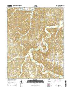 Saint Anthony Missouri Current topographic map, 1:24000 scale, 7.5 X 7.5 Minute, Year 2015
