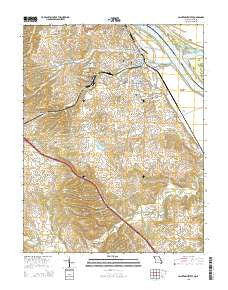 Sainte Genevieve Missouri Current topographic map, 1:24000 scale, 7.5 X 7.5 Minute, Year 2015