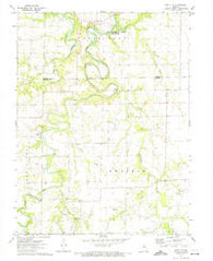Santa Fe Missouri Historical topographic map, 1:24000 scale, 7.5 X 7.5 Minute, Year 1972