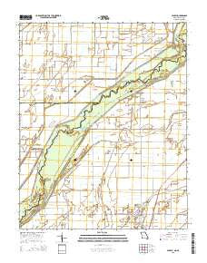Senath Missouri Current topographic map, 1:24000 scale, 7.5 X 7.5 Minute, Year 2015