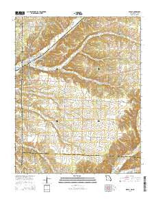 Seneca Missouri Current topographic map, 1:24000 scale, 7.5 X 7.5 Minute, Year 2015