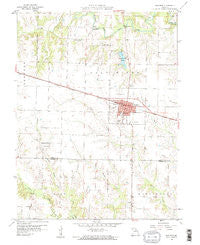 Shelbina Missouri Historical topographic map, 1:24000 scale, 7.5 X 7.5 Minute, Year 1959