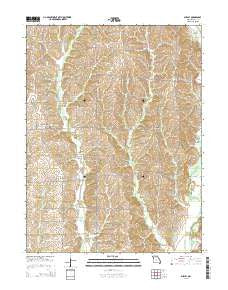 Shelby Missouri Current topographic map, 1:24000 scale, 7.5 X 7.5 Minute, Year 2015