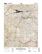 Springfield Missouri Current topographic map, 1:24000 scale, 7.5 X 7.5 Minute, Year 2015 from Missouri Map Store