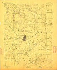 Springfield Missouri Historical topographic map, 1:125000 scale, 30 X 30 Minute, Year 1886