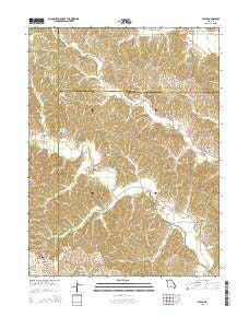 Stahl Missouri Current topographic map, 1:24000 scale, 7.5 X 7.5 Minute, Year 2015