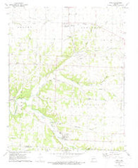 Stella Missouri Historical topographic map, 1:24000 scale, 7.5 X 7.5 Minute, Year 1972