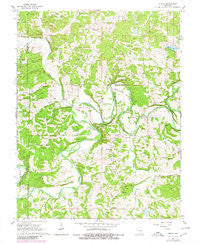 Strain Missouri Historical topographic map, 1:24000 scale, 7.5 X 7.5 Minute, Year 1966