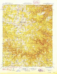 Summersville Missouri Historical topographic map, 1:62500 scale, 15 X 15 Minute, Year 1946