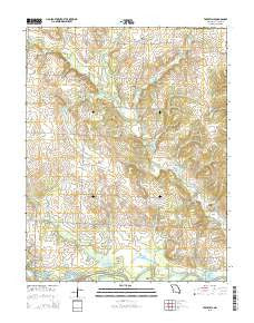 Taberville Missouri Current topographic map, 1:24000 scale, 7.5 X 7.5 Minute, Year 2015