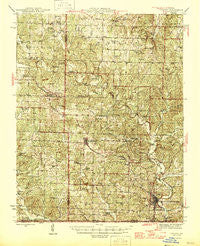 Thayer Missouri Historical topographic map, 1:62500 scale, 15 X 15 Minute, Year 1946
