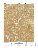 The Sinks Missouri Current topographic map, 1:24000 scale, 7.5 X 7.5 Minute, Year 2015 from Missouri Map Store