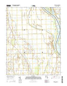 Thebes SW Missouri Current topographic map, 1:24000 scale, 7.5 X 7.5 Minute, Year 2015