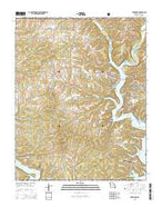 Theodosia Missouri Current topographic map, 1:24000 scale, 7.5 X 7.5 Minute, Year 2015 from Missouri Map Store